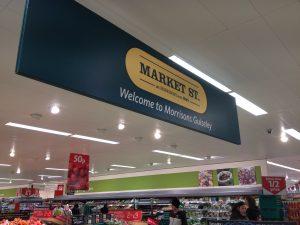 Morisons bulkhead Market St Signage