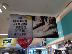 M Fishmonger Signage