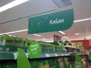 M Italian Food Signage