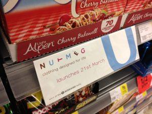 M Nutmeg signage