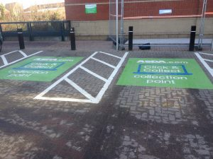 Click / Collect parking bays.