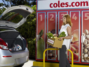 A Coles click / collect locker (courtesy of Coles.com.au).