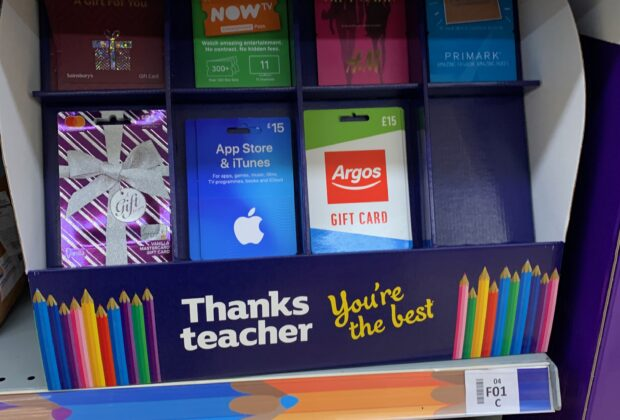 Thank you Teacher signage