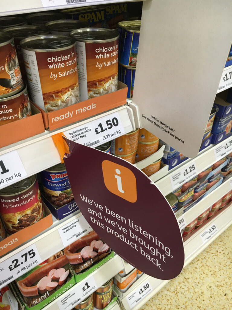 Truth in retail Sainsbury's range issues