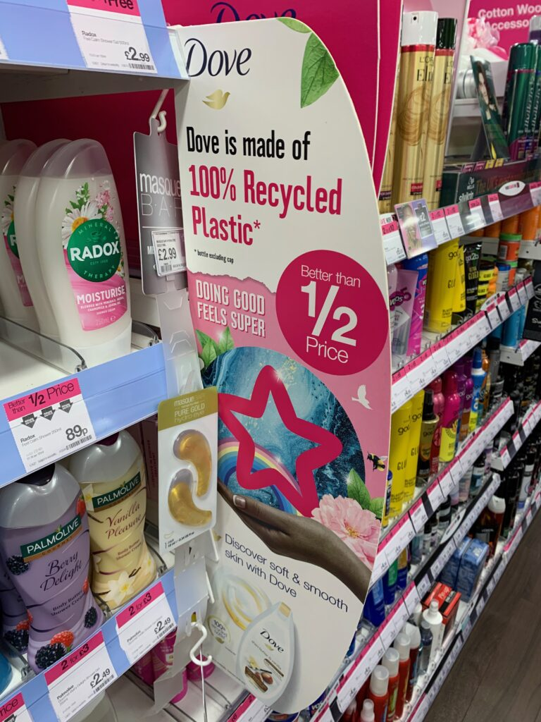 Sustainability in Superdrug on Dove.